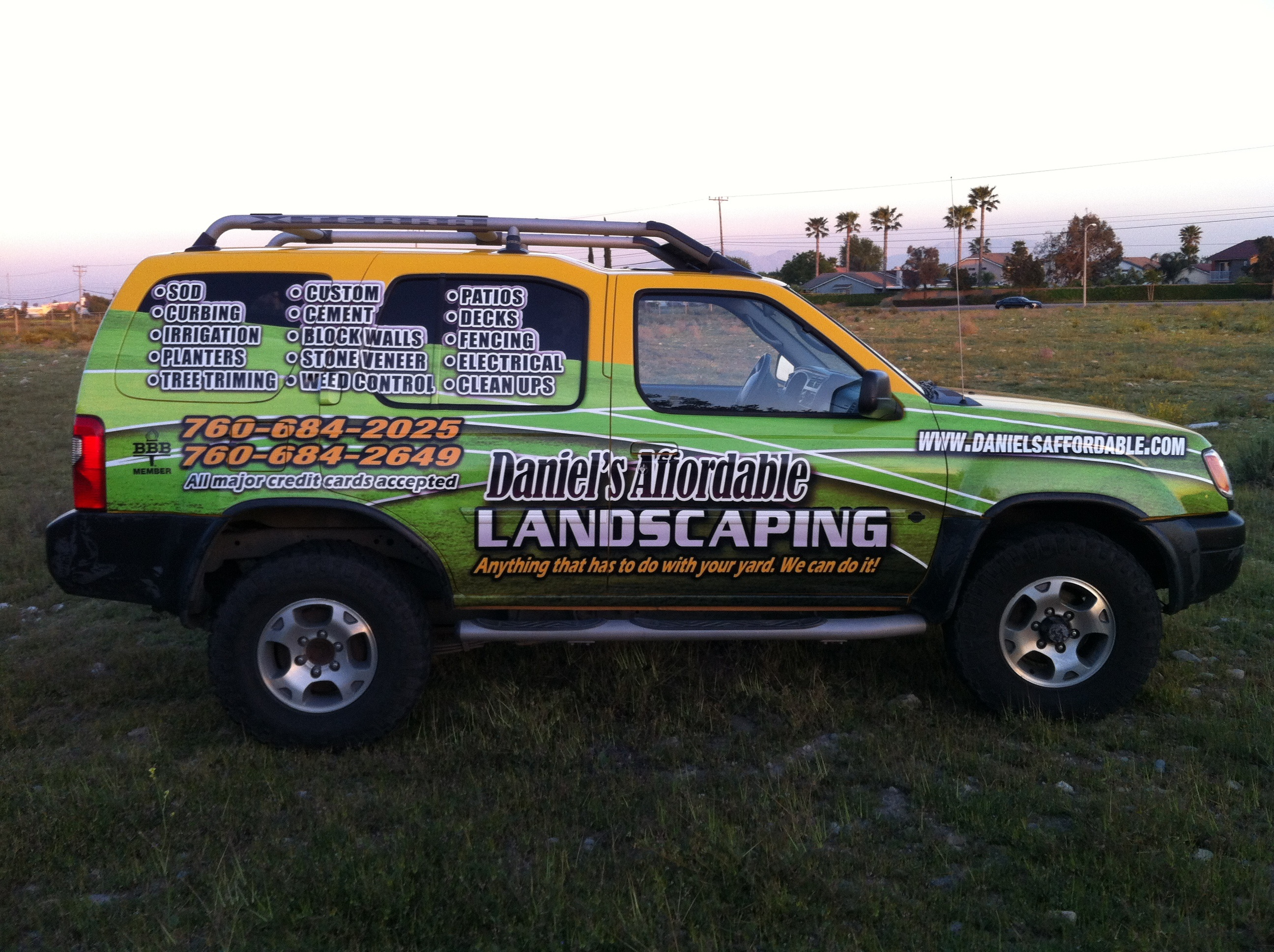 Lawn care truck and trailer quotes for Garden maintenance van