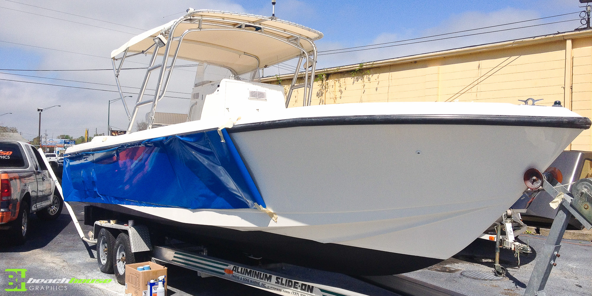 boat wraps, vinyl boat graphics lettering, boat decal