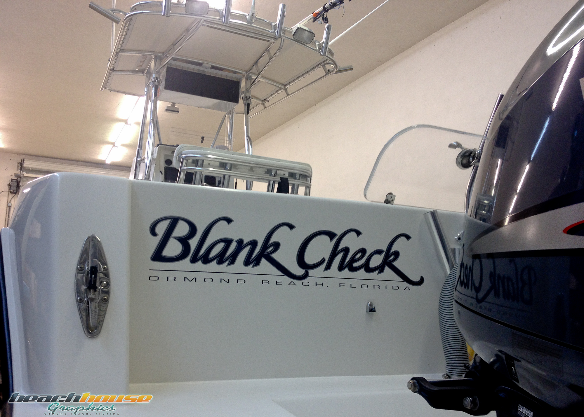 Vinyl lettering boat name graphics decals stickers black for Boat names vinyl lettering