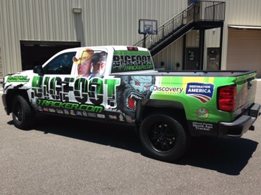 partial truck wrap in Daytona Beach Florida vehicle graphics and sign shops